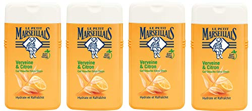 Le Petit Marseillais Gel Douche Extra Doux Verveine Citron 250 ml - Lot de 4