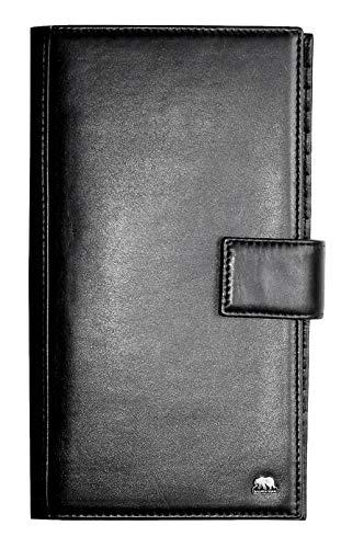 Brown Bear Reise-Brieftasche Leder Schwarz für Herren