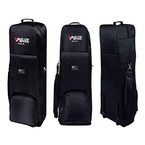 PGM acolchada bolsa Golf funda viaje ruedas, negro