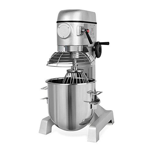Vertes 30 Liter Profi Teigknetmaschine mit Planetenrührwerk (30 Liter Rührschüssel, 1500 Watt Elektromotor, umfangreiches Zubehör)