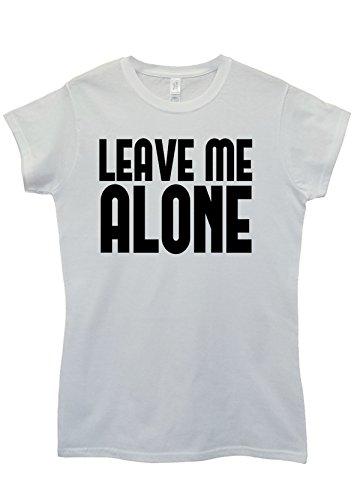 Leave Me Alone Nerd Geek White White Weiß Women Damen Top T-shirt Weiß