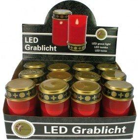 LED tumba luz eléctrica 12cm rojo I. dis. sin batería