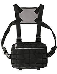 Comtervi Chest Bag, Brust Takelage Taschen Gürtel Tasche Hip Hop Streetwear Funktionelle Brust Tasche Kreuz Umhängetaschen 30 * 5 * 20cm