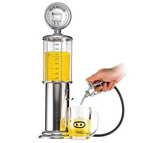 Cikuso Juego de Mesa Máquina Dispensador de Cerveza Vasos de Bebida Bomba de Cabeza única con Dise?o de Capa Transparente Estación de Gas Bar para Beber