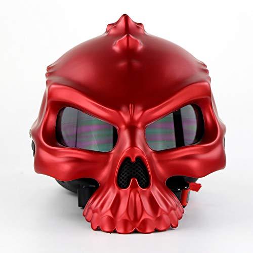 Preisvergleich Produktbild Motorrad-Helme Professional Protection Strong Crash Motorcycle Helm Männer und Frauen Trends Creative Mage Helm Helm Skull ShapeHarley Half Helm (M,  L,  XL,  XXL), M