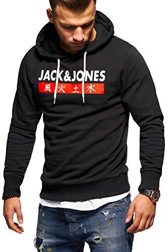 JACK & JONES Herren Hoodie Kapuzenpullover Sweatshirt Pullover Print Streetwear (XX-Large, Tap Shoe)