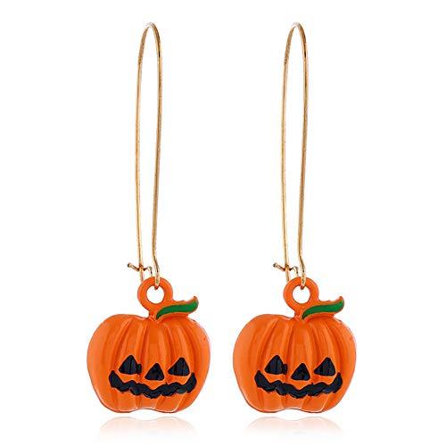 Professionell Gemachte Halloween Kostüm - Hilai 1Pair Halloween-Kürbis-Ohrringe Smiley-Kürbis Baumeln Ohrring-Partei-Kostüm