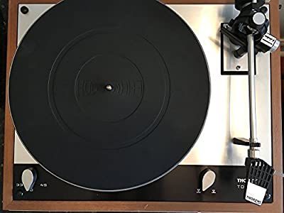 Hudson Hi-Fi Turntable Platter Mat – Audiophile Grade Silicone Rubber Design Universal to all LP Vinyl Record Players