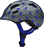 Abus Fahrradhelm Kinderhelm Smiley 2.1 LED-Licht Blue Mask 50-55 cm