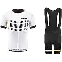 Uglyfrog Ciclismo Maillot Hombres Jersey y Pantalones Cortos Bib Mangas Cortas de Ciclismo Ropa Maillot Transpirable