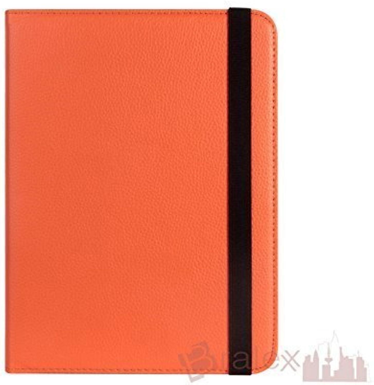 BRALEXX Universal Tablet PC Tasche passend für MEDION LIFETAB E10317 (MD 98688)  10 Zoll  Orange