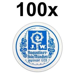 J.W. Augustiner Bräu München Bierdeckel Untersetzer Bierfilz rund - 100er Packung