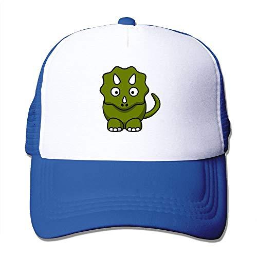 Cute Triceratops Cartoon Youth Mesh Baseball Cap Summer Adjustable Trucker Hat