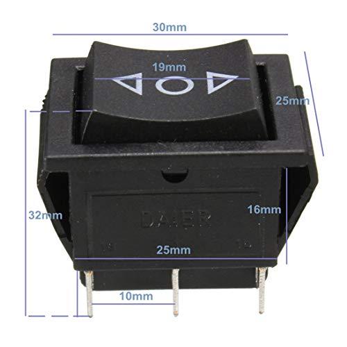 WEIHAN AC 250 V / 10 A 125 V / 15 A 6-poliger DPDT-Fensterheber-Wippschalter 12 V -