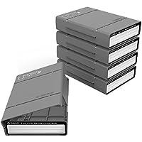 ORICO Festplattentasche Schutztasche Schutzbox ,Aufbewahrungstasche für 3,5 Zoll Festplatten und SSD/HDD,Hard Case Erschütterungsfeste Schutzbox für Western Digital WD Seagate Toshiba Intenso,5 Stück