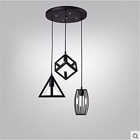XJBIl Nordic minimalista moderno stile americano garden lounge ristorante lampadari bedroomIron disco 3 testa