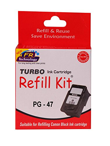 Turbo ink refill kit for Canon 47 black ink cartridge  available at amazon for Rs.252