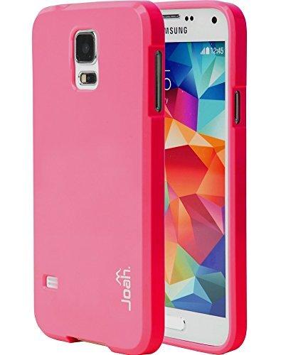 Galaxy S5Coque, Joah [chute Protection] Coque Samsung Galaxy S5[Vert citron] slim fit Coque en TPU [absorbant] Armor Bumper Galaxy S5Coque [fabriqué en Corée] (pour Samsung Galaxy S5) Rose