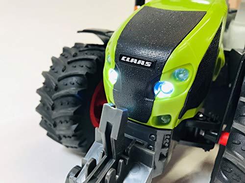 RC Auto kaufen Traktor Bild 4: BUSDUGA RC Ferngesteuerter Traktor CLAAS 870 Axion 1:16 - passend zu den Bruder Anhänger, inkl. Batterien - 2,4 GHz - RTR (Ready-to-Run) Sofort Spielbereit - Lizenz NACHBAU*
