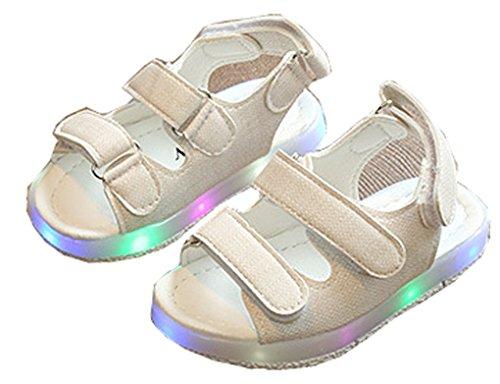 (Shiny Toddler Flache Schuhe Sandalen für Mädchen 10m Uns Kleinkind Sahne)