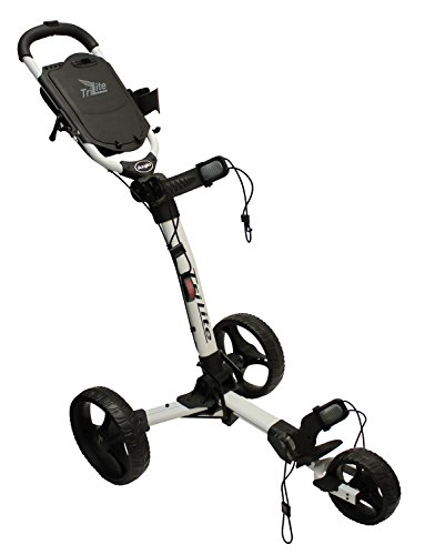 Axglo Trilite Chariot de Golf Mixte Adulte, Blanc/Noir