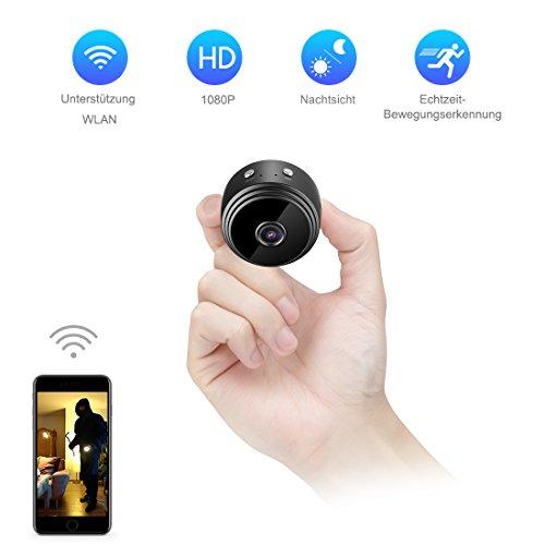 Mini-Kamera,TODAYI Wireless WIFI Mini Wlan Überwachung Kamera Kindermädchen-Kamera mit Bewegungserkennung für iPhone/Android Phone/iPad (Wireless-kameras Für Iphone)