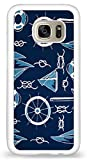 Bbhappiness Personalize Samsung Galaxy S7 Cases - Blue White Nautical Ships Theme Hard Plastic Phone Cell Case for Samsung Galaxy S7