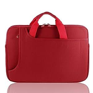 """Poignée rouge 15 """"15.4"""" 15.6 """"Notebook Laptop Sleeve Case pour HP Pavilione sac"""