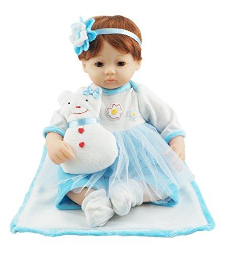 Cosette Reborn Lovely Baby Girl Puppen im Kissen Cute Schneemann Mädchen für Kinder Geburtstagsgeschenk