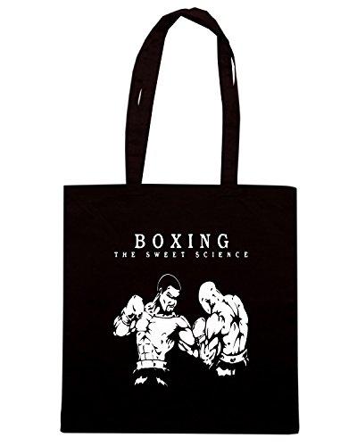 T-Shirtshock - Borsa Shopping TAM0213 boxing the sweet science hooded tshirt Nero