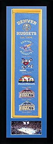 NBA Denver Nuggets Legends Never Die Team Heritage Banner with Photo, Team Colors, 15
