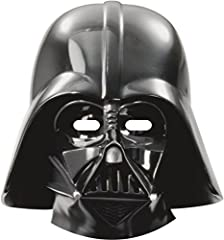 Idea Regalo - Procos 84167 - Mascherine Carta Star Wars Darth Vader, 6 Pezzi, Nero