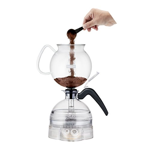 Bodum ePEBO Electric Vacuum Coffee Maker, 1.0 L – Clear