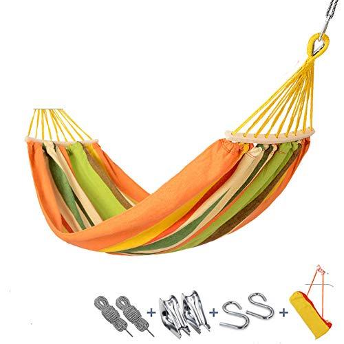 FJhdHndjse Single & Double Rollover-prävention Hängematten Outdoor-Reisen ultraleichtes Camping Portable Strand Swing Bett Baum hängenden hängematte aufhängen-C- 200x100cm(79x39inch)