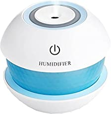 Care 4Mini Cool Mist Beatel Home Car Air Diffuser Purifier Humidifier with Led Light Portable Room Air Purifier(White)