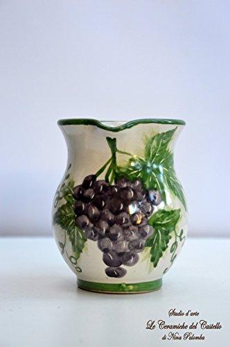 brocca-linea-uva-ceramica-handmade-le-ceramiche-del-castello-100-made-in-italy