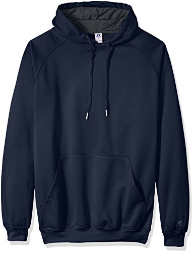 Sleeve-liner (Russell Athletic Men's Big and Tall PO Poly Flece HD With Contrast Liner Logo On Sleeve, Navy, 3XT)