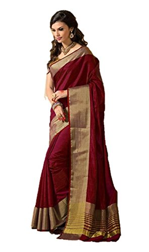 Indian Beauty Maroon Art Silk Saree