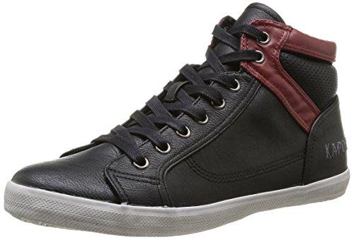 Kaporal  Tyron,  Sneaker uomo Nero Noir (82 Noir/Bordeaux) 43