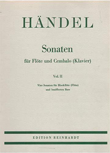 (Sonaten, Flöte und Cembalo) Sonaten für Flöte und Cembalo (Klavier), in 2 Bdn, Bd.2, Vier Sonaten für Blockflöte (Flöte) und bezifferten Baß (Sonaten Flöte Für Vier Und Klavier)