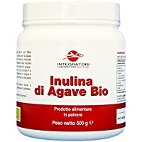 Inulina di Agave da agricoltura biologica, Fibra alimentare prebiotica (Neutro, 500 g)