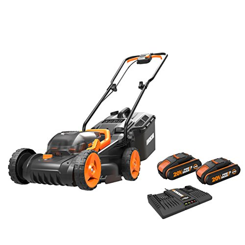 WORX WG779E.2 36V (40V MAX) Cordless 34cm Lawn Mower (Dual battery x2 20V Batteries)