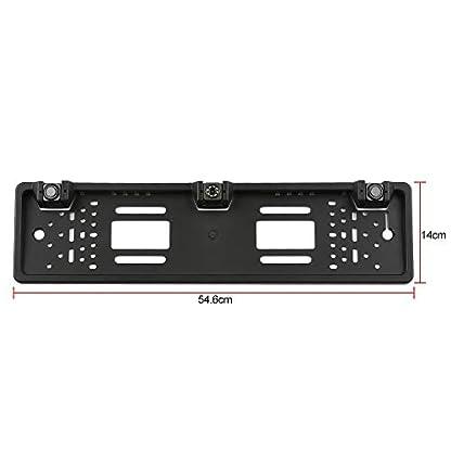 Festnight-Europische-Kfz-Kennzeichenrahmen-Rckfahrkamera-12-LED-Rckfahrkamera-mit-Rckfahrradarsystem