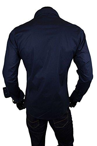 Chemise manches longues unie homme Coupe slim fit Business Nuit
