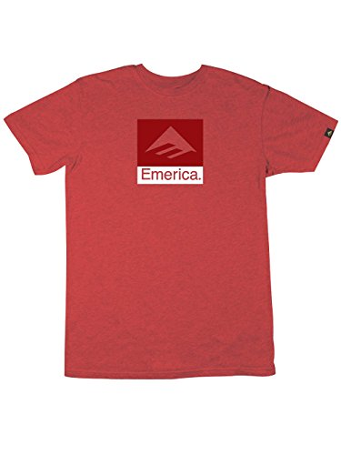 Emerica Combo - T-Shirt Imprimé Logo - Homme Rojo (red/heather)