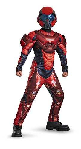 Kinder Halo Spartan Kostüm - Disguise Red Spartan Halo Muscle Chest Boys Costume XL (14-16)