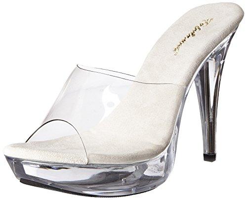 Fabulicious Damen COCKTAIL-501 Offene Sandalen, Transparent CLR, 44 EU 5 Zoll Stiletto Heel Platform