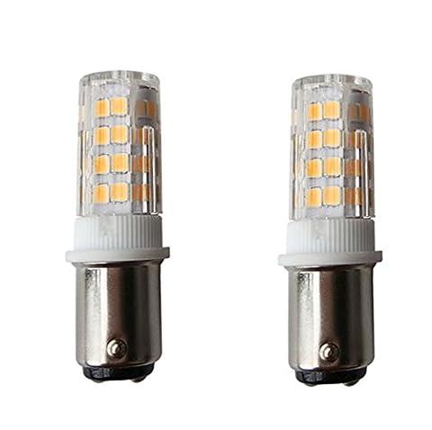 B15 Ampoule LED/[Lot de 2] SFTlite AC 220-240 V BA15D Ampoule LED 4 W 51 LED SMD - 400 lumens Blanc chaud 3000K - 35 W lampe halogène équivalent - double Connect baïonnette BA15D LED Maïs Lumière pour machine à coudre/Appliance lamps [Classe énergétique A +]