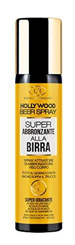Hollywood Beer Spray, super abbronzante alla Birra viso e corpo No Gas (1x75ml) - LR Wonder Company