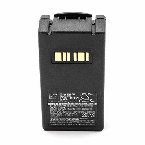 vhbw Li-Ion Akku 6800mAh (3.7V) für Mobilcomputer Scanner wie Datalogic 94ACC1386